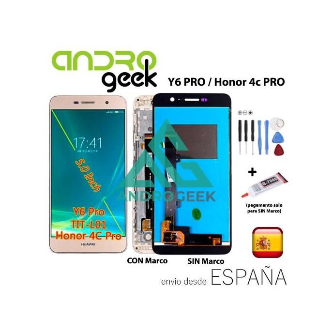 Pantalla LCD Huawei Y6 PRO / HONOR 4C PRO + TÁCTIL+MARCO (opcional)