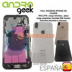 Full housing Iphone XS carcasa chasis tapa trasera Iphone XS antena Wifi cargador