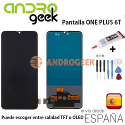 Pantalla Oneplus 6T 1+6T  one plus 6T OLED (LCD/display + digitalizador/táctil) + (MARCO / Frame OPCIONAL)