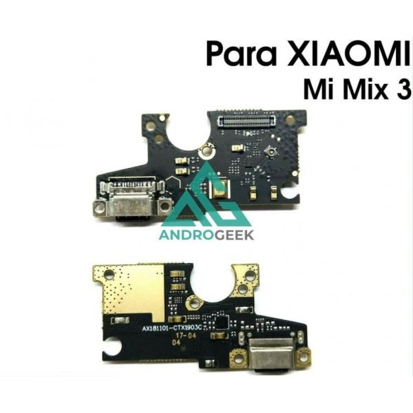 Placa de Carga XIAOMI MI MIX 3 CONECTOR USB TIPO C Antena Microfono BOARD FLEX